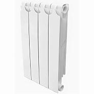 Радиатор биметаллический Теплоприбор BR1-500 4 секции боковое подключение