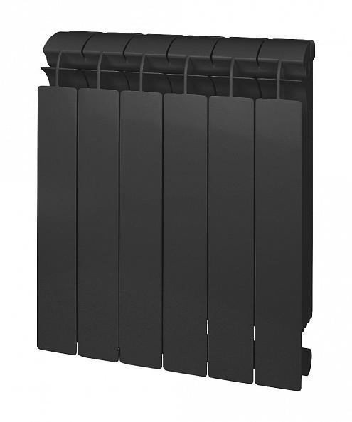 Биметаллический радиатор Global Style Plus Grigio Scuro 500 \ 6 cекций \ черный