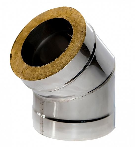 Сэндвич колено Ferrum 135° Ø130x200, 0.8 мм нержавейка