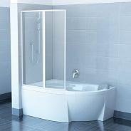 Шторка для ванной Ravak VSK2 Rosa L (76LB0100Z1) (170 см) стекло прозрачное