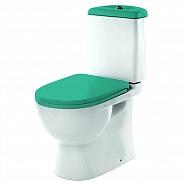Унитаз напольный Sanita Luxe Best Color Sea с крышкой-сиденьем микролифт