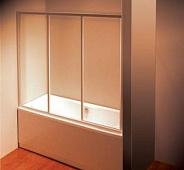Шторка для ванной Ravak AVDP3 (40VS0102Z1) (160 см) стекло прозрачное, профиль белый