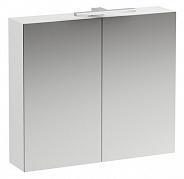 Зеркальный шкаф Laufen Base (4.0280.2.110.261.1) (80 см) (белый глянцевый) с LED подсветкой