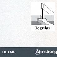 Подвесной потолок Armstrong плита Retail tegular 600х600х14 мм
