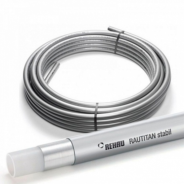 Труба Rehau Rautitan Stabil 16,2х2,6 мм из сшитого полиэтилена (отрезок 40 метров) (11301211100)