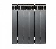 Биметаллический радиатор Rifar Monolit 500, 6 секций Антрацит