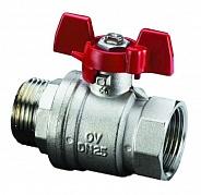 Шаровый кран Oventrop Optibal НВ 1/2 маховик из алюминия (арт. 1076304)