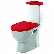 Унитаз напольный Sanita Luxe Best Color Red с крышкой-сиденьем микролифт