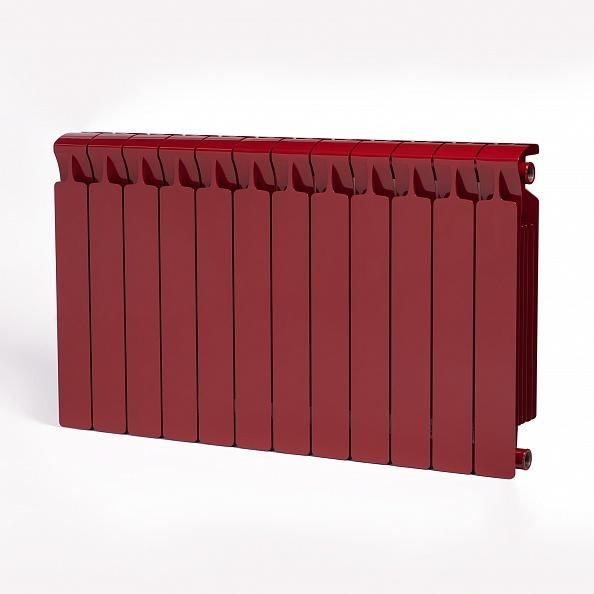 Биметаллический радиатор Rifar Monolit 500, 12 секций Бордо