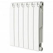 Радиатор биметаллический Теплоприбор BR1-500 6 секции боковое подключение
