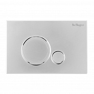 Кнопка смыва BelBagno Sfera, 15x23x0,65 см, хром (BB015-SR-CHROME)
