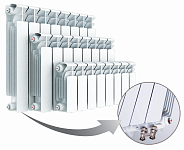Биметаллический радиатор Rifar Base Ventil 350, 4 секции, с нижним правым подключением