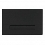 Кнопка смыва BelBagno Genova, 15x23x0,65 см, чёрный матовый tocco morbido (BB021-GV-NERO.M)