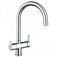 Смеситель для кухни встроенный излив для питьевой воды с запорным вентилем Blanco Trima, хром (525136)
