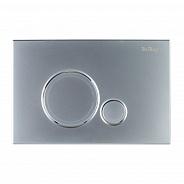 Кнопка смыва BelBagno Sfera, 15x23x0,65 см, чёрный матовый tocco morbido (BB017-SR-NERO.M)