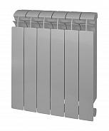 Биметаллический радиатор Global Style Plus Grigio Argento 500 \ 4 секции \ серый