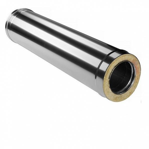 Сэндвич труба Ferrum Ø130x200, 1000 мм нержавейка