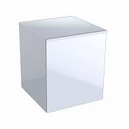 Шкафчик боковой Geberit Acanto 450x520x476 мм, белое стекло (500.618.01.2)
