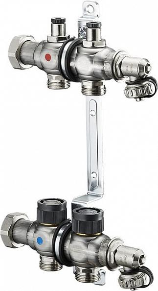 "Коллектор Oventrop Multidis SF 1"" на 2 контура с регулирующими вставками (1404552)"