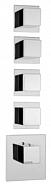 Термостат для ванны и душа Bossini Outlets (Z032208.030) с отдельными панелями, квадратная рукоятка