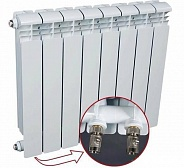 Алюминиевый радиатор Rifar Alum Ventil 350 (12 секций) с нижним левым подключением