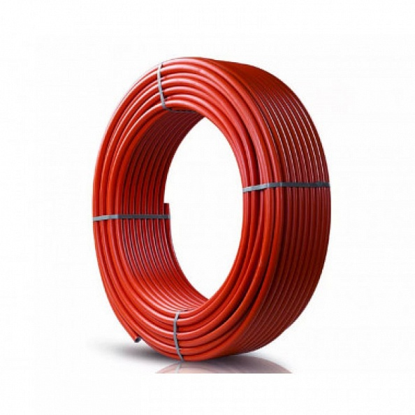 Труба Stout 20х2,0 PEX-a из сшитого полиэтилена с кислородным слоем, красная (отрезок 40 м) (SPX-0002-002020)