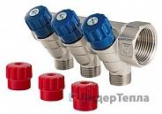 Коллектор Valtec с регулирующими вентилями и наружной резьбой 1 дюйм, 3 х 1/2 дюйма (VTc.560.N.0603)