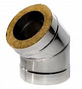 Сэндвич колено Ferrum 135° Ø120x200, 0.8 мм нержавейка