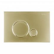 Кнопка смыва BelBagno Sfera, 15x23x0,65 см, золото (BB018-SR-ORO)