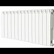Радиатор биметаллический Теплоприбор BR1-350 14 секции боковое подключение