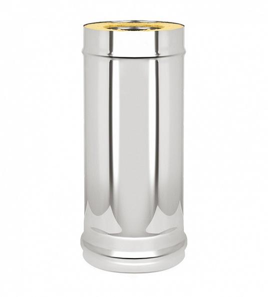 Сэндвич труба Ferrum Ø115x200, 500 мм нержавейка