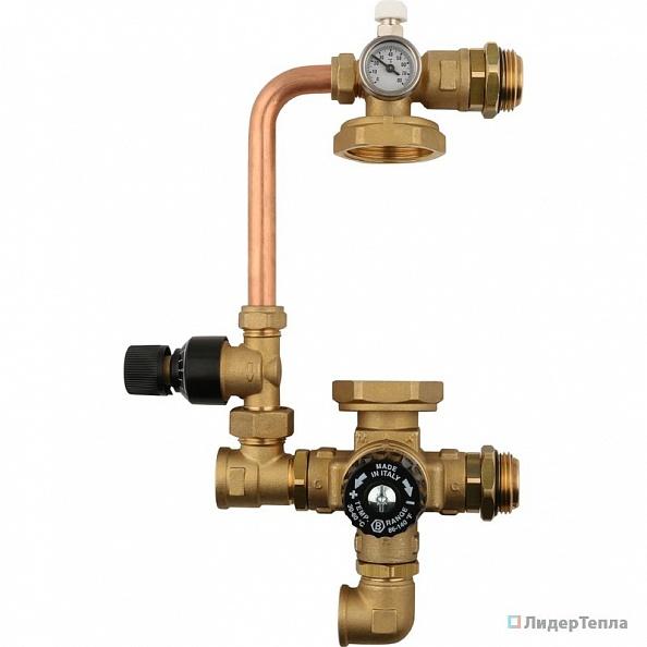Насосно-смесительный узел Stout с термостатическим клапаном и байпасом, без насоса (арт. SDG-0020-002000)