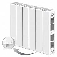 Биметаллический радиатор Rifar Supremo Ventil 350, 6 секции, с нижним правым подключением