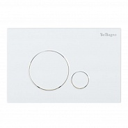 Кнопка смыва BelBagno Sfera, 15x23x0,65 см, белый (BB014-SR-BIANCO)