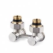 """Угловой Н-образный клапан SR Rubinetterie для нижнего подключения отопительных приборов, 1/2""""х3/4"""" (0740-1500N0E0)"""