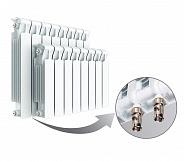 Биметаллический радиатор Rifar Monolit Ventil 500, 5 секций, с нижним левым подключением