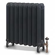 Чугунный ретро-радиатор Exemet Detroit 650/500 1 секция, размер с ножками 650x180x78мм