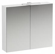 Зеркальный шкаф Laufen Base (4.0285.2.110.260.1) (100 см) (белый матовый) с LED подсветкой