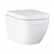 Унитаз подвесной безободковый Grohe Euro Ceramic 374x540 мм, белый (39554000)