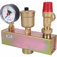 """Группа безопасности котла Stout (до 50 кВт) (в теплоизоляции), 1"""", 3 бара (SVS-0004-055032)"""