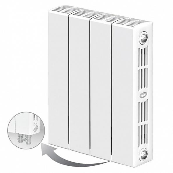 Биметаллический радиатор Rifar Supremo Ventil 350, 4 секции, с нижним правым подключением