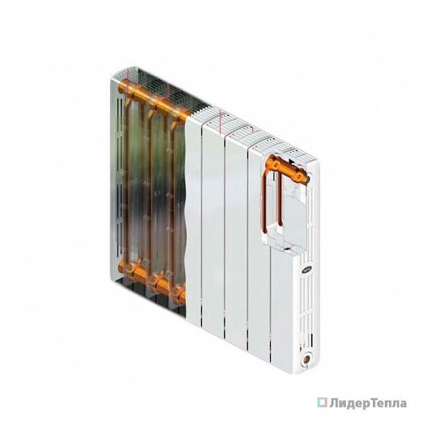 Биметаллический радиатор Rifar Supremo 350, 6 секций,  с боковым подключением