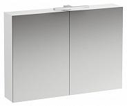 Зеркальный шкаф Laufen Base (4.0285.2.110.261.1) (100 см) (белый глянцевый) с LED подсветкой