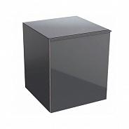 Шкафчик боковой Geberit Acanto 450x520x476 мм, лавовое стекло (500.618.JK.2)