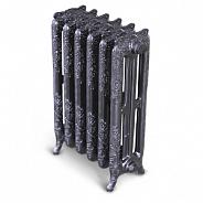 Чугунный ретро-радиатор Exemet Mirabella 650/500 1 секция, размер с ножками 650x240x75 мм