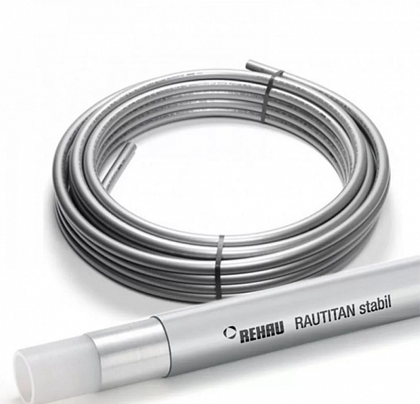 Труба Rehau Rautitan Stabil 20х2,9 мм из сшитого полиэтилена (отрезок 6 метров) (11301311100)