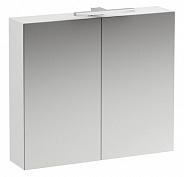 Зеркальный шкаф Laufen Base (4.0280.2.110.260.1) (80 см) (белый матовый) с LED подсветкой