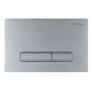Кнопка смыва BelBagno Genova, 15x23x0,65 см, хром матовый (BB020-GV-CHROME.M)